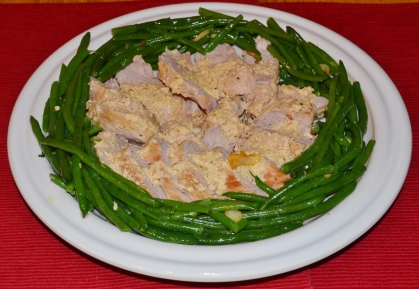 pork loin braised in milk with string beans