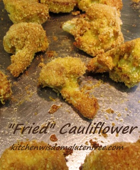 fried cauliflower w writing