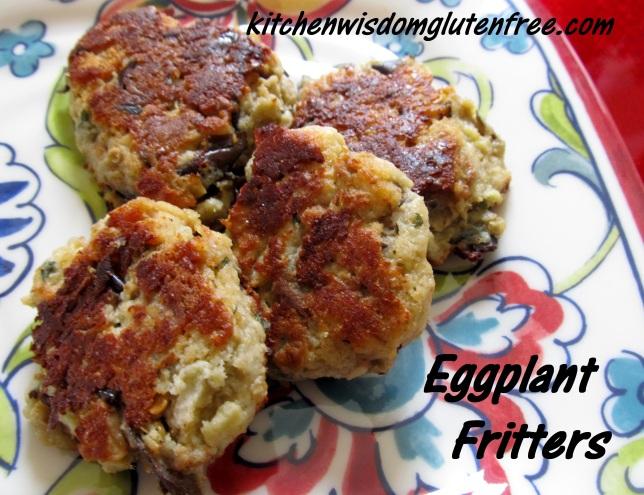 1  Eggplant Fritters w writing