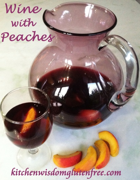 peaches in wine w writing