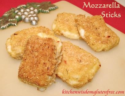 mozzarella sticks - w writing