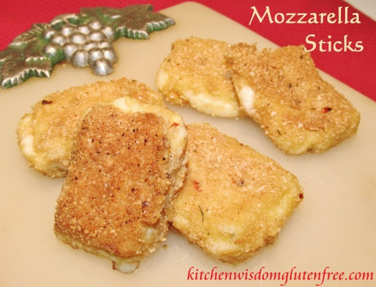 mozzarella sticks - w writing