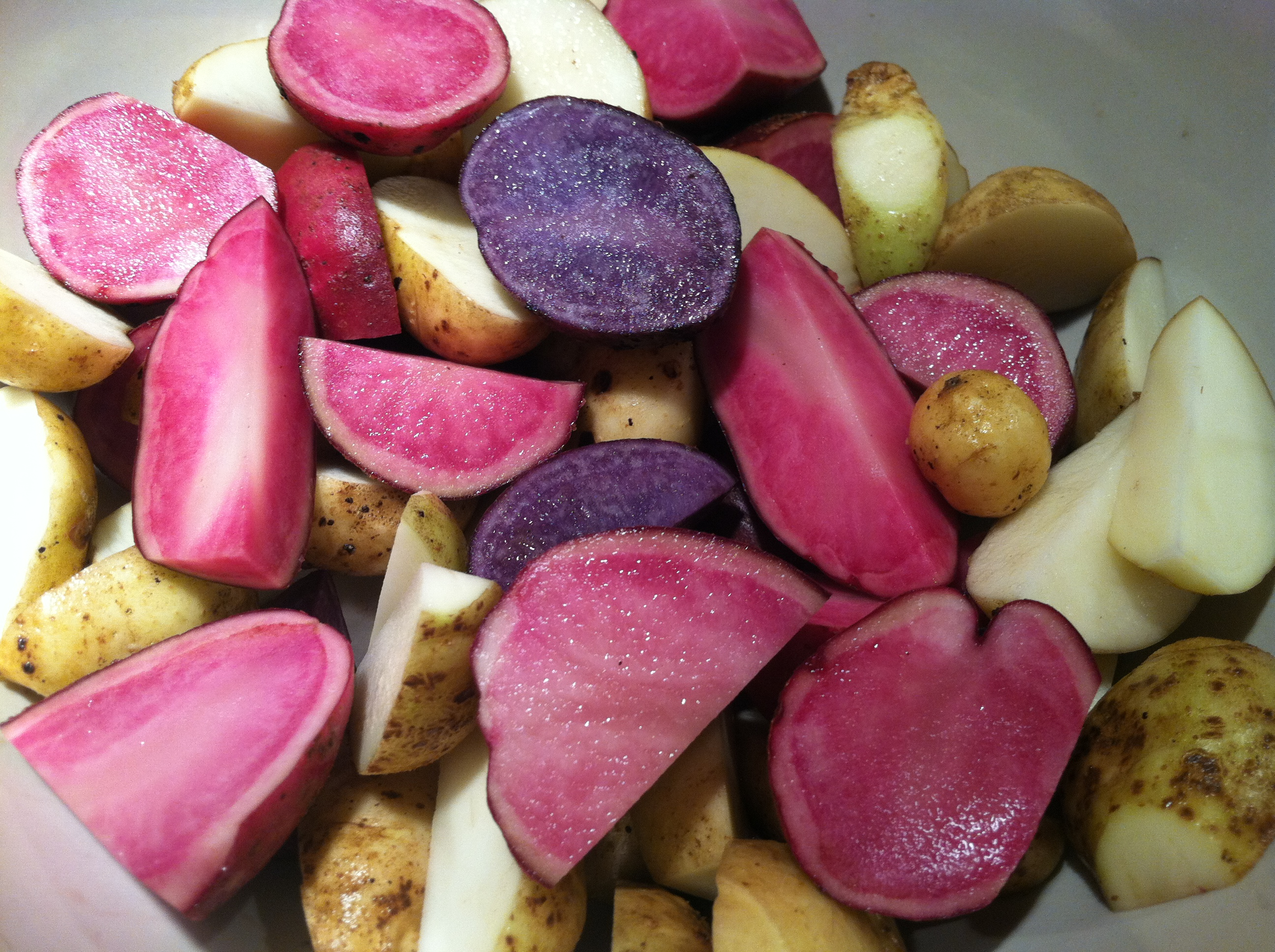 Purple Potatoes With Rosemary And Caramelized Onions ...