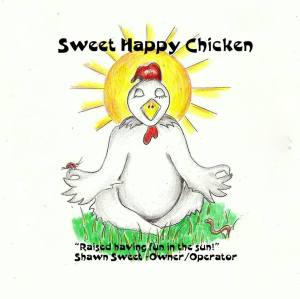 sweet happy farms label