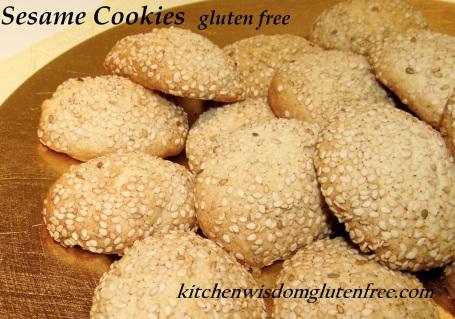 Sesame Cookies w writing