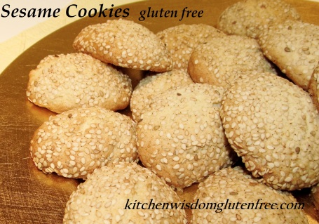 Sesame Cookies w writing