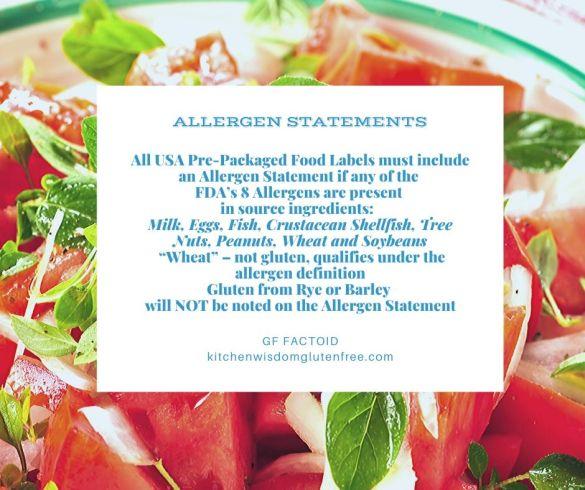 allergen statement