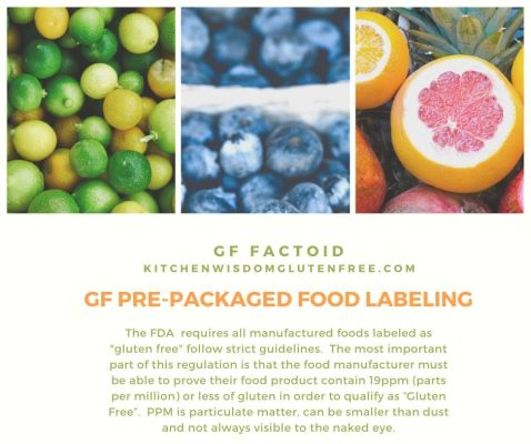 gf pre pack food labeling fda